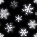 雪の結晶をモチーフにしたパターン