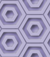 プラスチック風の六角形のパターン