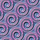 らせん模様を並べたパターン