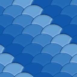 海の波をモチーフにしたうろこ模様のパターン