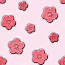 梅の花がモチーフのパターン