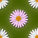 マーガレットの花がモチーフのパターン