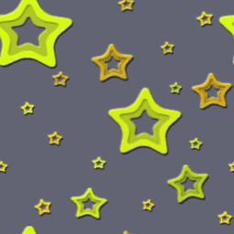 ランダムなスターのパターン