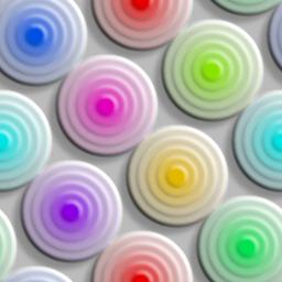 カラフルな同心円のパターン