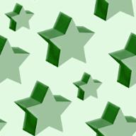 立体的な星のランダムパターン