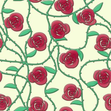 バラをモチーフとしたパターン