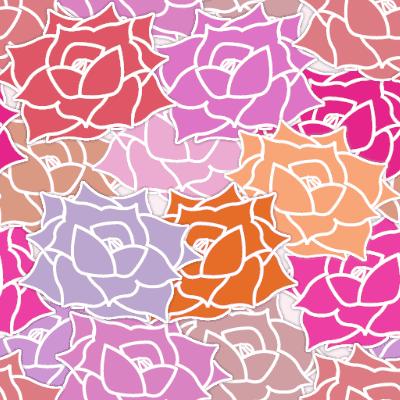 バラの花がモチーフのパターン