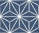 布のようなテクスチャの麻の葉文様パターン