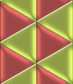 光沢のある三角形を敷き詰めたパターン