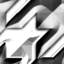 シルバーメタリックな千鳥模様のパターン