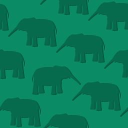 ゾウを敷き詰めたようなパターン