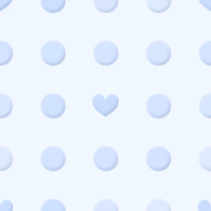 ハートと水玉のパターン