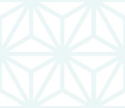 薄い色の麻の葉文様のパターン