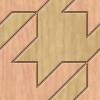 木目調の千鳥模様パターン
