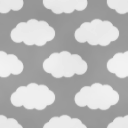 雲をモチーフにしたパターン