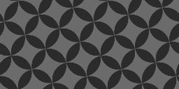 斜めに傾いた七宝文様のパターン
