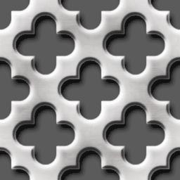十字の穴が開いたパンチングメタルのパターン