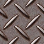 錆びついた感じの滑り止め付き鉄板のパターン