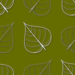 葉っぱをモチーフにしたパターン