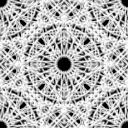 円形のレース風パターン