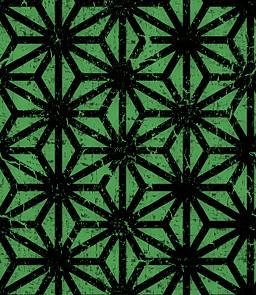 グランジな麻の葉文様のパターン
