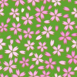 ランダムな桜の花のパターン