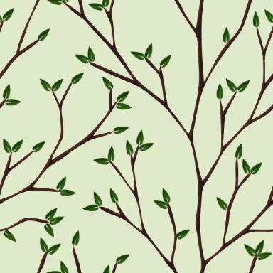 木の枝をモチーフにしたパターン