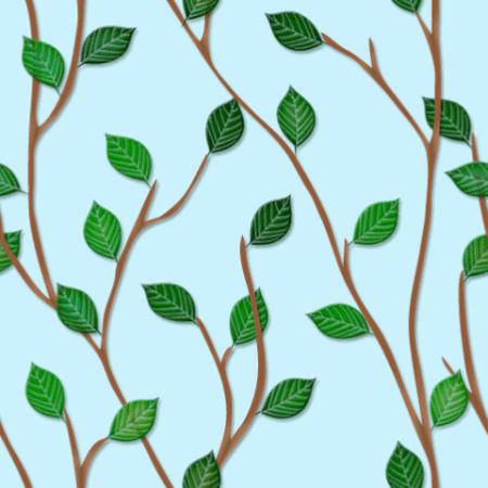 木の枝と葉っぱのパターン