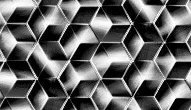 メタリックな立方体のパターン