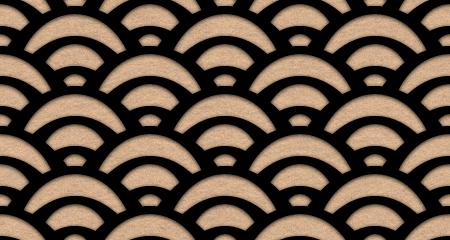 ざらざらした質感の青海波のパターン