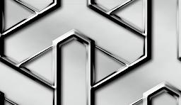 シルバーカラーのメタリックな組亀甲のパターン