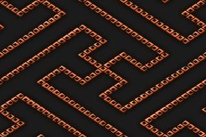 点線からなる紗綾形文様のパターン
