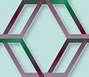 和風な色味の六角形のパターン