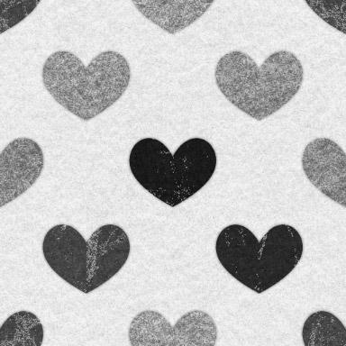 紙の質感のハートパターン
