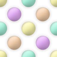 カラフルな水玉のパターン