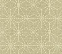 点線の麻の葉文様パターン