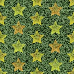 グランジテイストな星のパターン