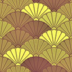 菊青海波のパターン