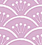 手書き風の花青海波のパターン