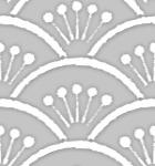 手書き風の花青海波(グレー)のパターン