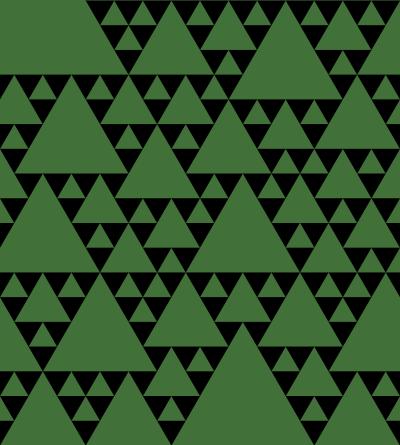 大小さまざまな大きさの三角形を敷き詰めたパターン