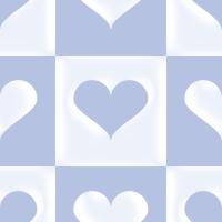 ハートが入ったブロックチェックのパターン
