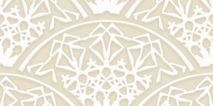 白とベージュの洋風な青海波のパターン